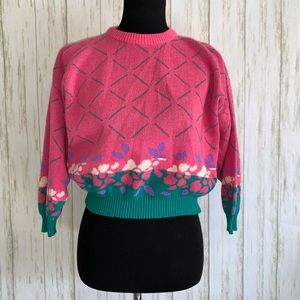 Vintage 90s cropped acrylic sweater